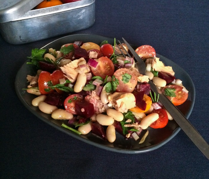 Tuna & cannellini bean salad