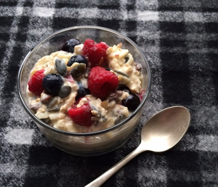 No-cook fruity porridge